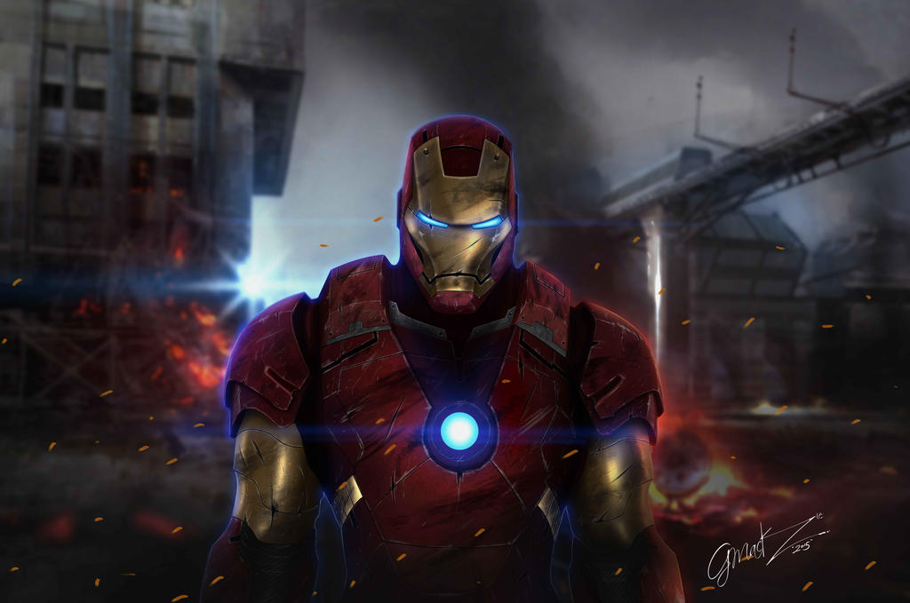 Iron Man After Battle by Gartomack