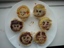 Hetalia cupcakes by ziboulette