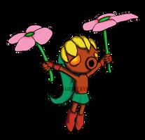 Deku Link- Flower Hovering by Blitzergeldert