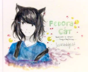 -Gift- ::Fedora Cat:: by Junsopheii