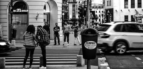 Black and white Calea Victoriei by aNaty