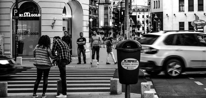 Black and white Calea Victoriei