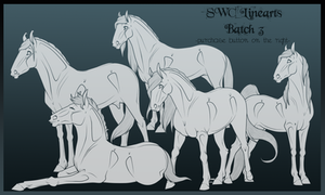 Lineart Batch 3 by x-SWC-x