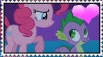 PinkieSpike Stamp by DrakkenlovesShego12
