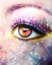 Eye Manip 2 - Purple and Yellow Make Up by LorixLisa