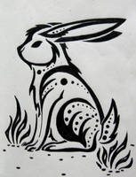 Tribal Hare by silveraquila