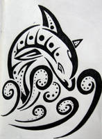 Tribal Dolphin by silveraquila