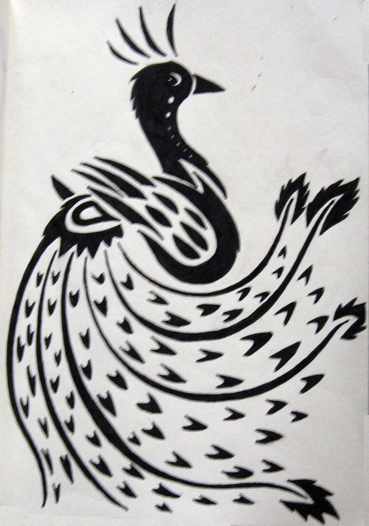 Tribal Peacock Tattoo Design Picture 3
