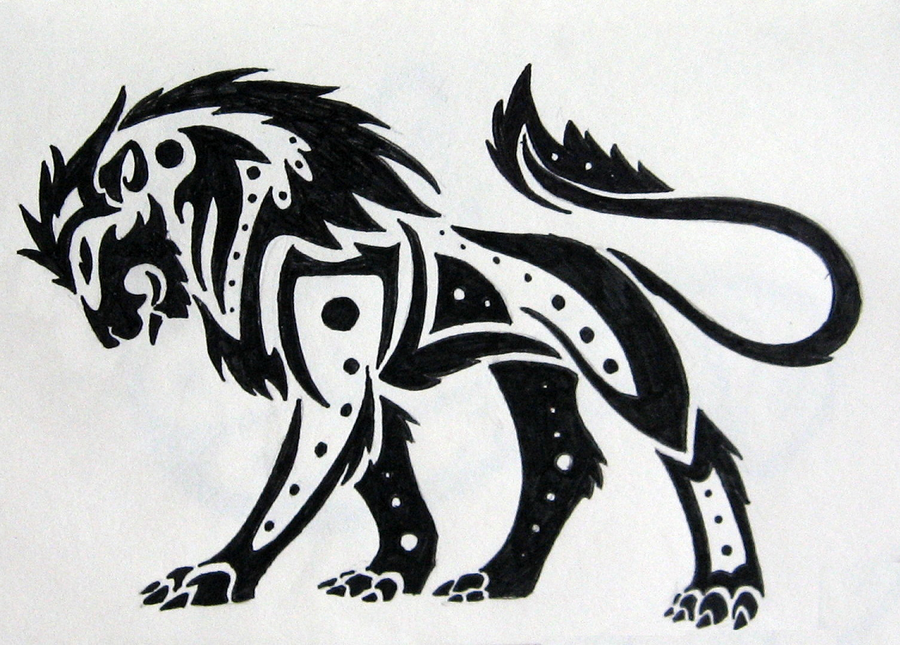 Tribal Lion by silveraquila on DeviantArt