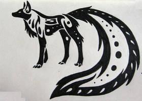 Tribal Fox by silveraquila