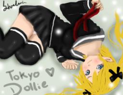 Kikiyo- Laying on the ground by Tokyo-Dollie