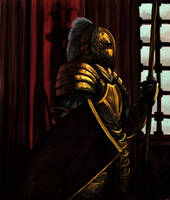 Golden Knight by overdrivezero