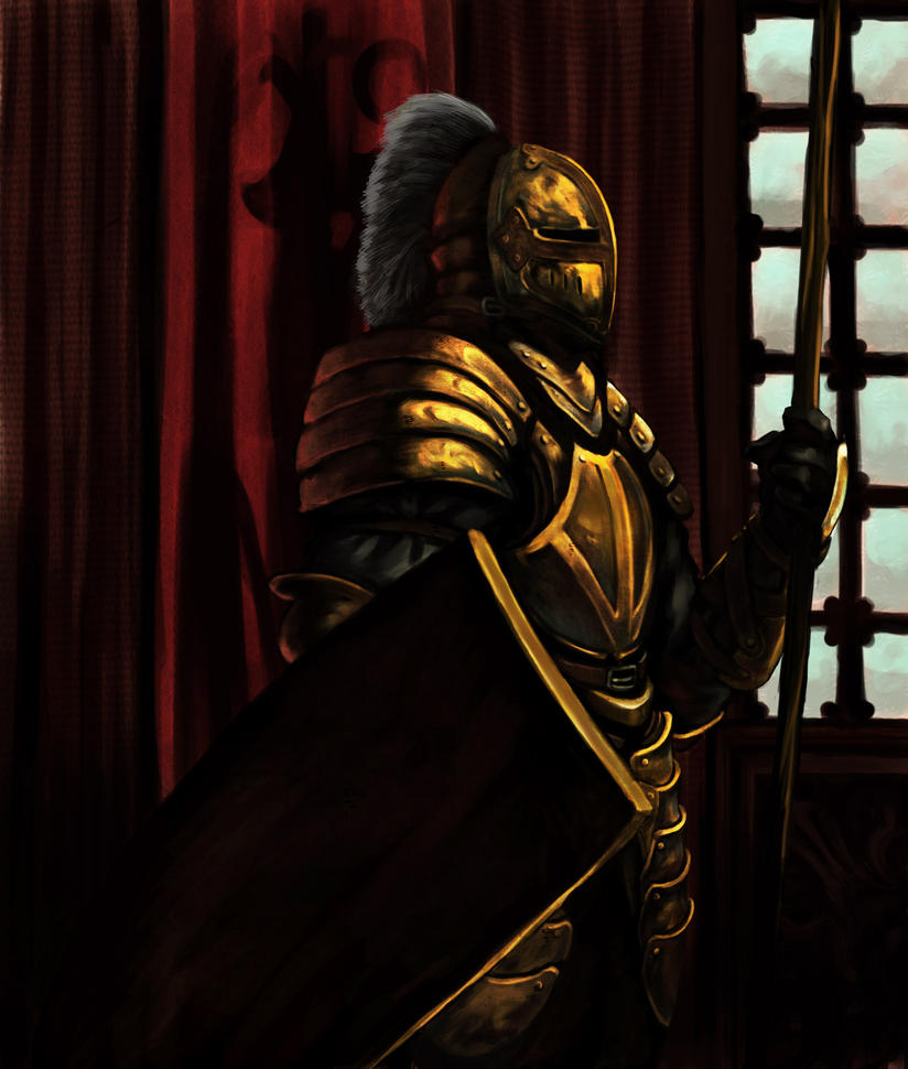 Golden Knight by overdrivezero