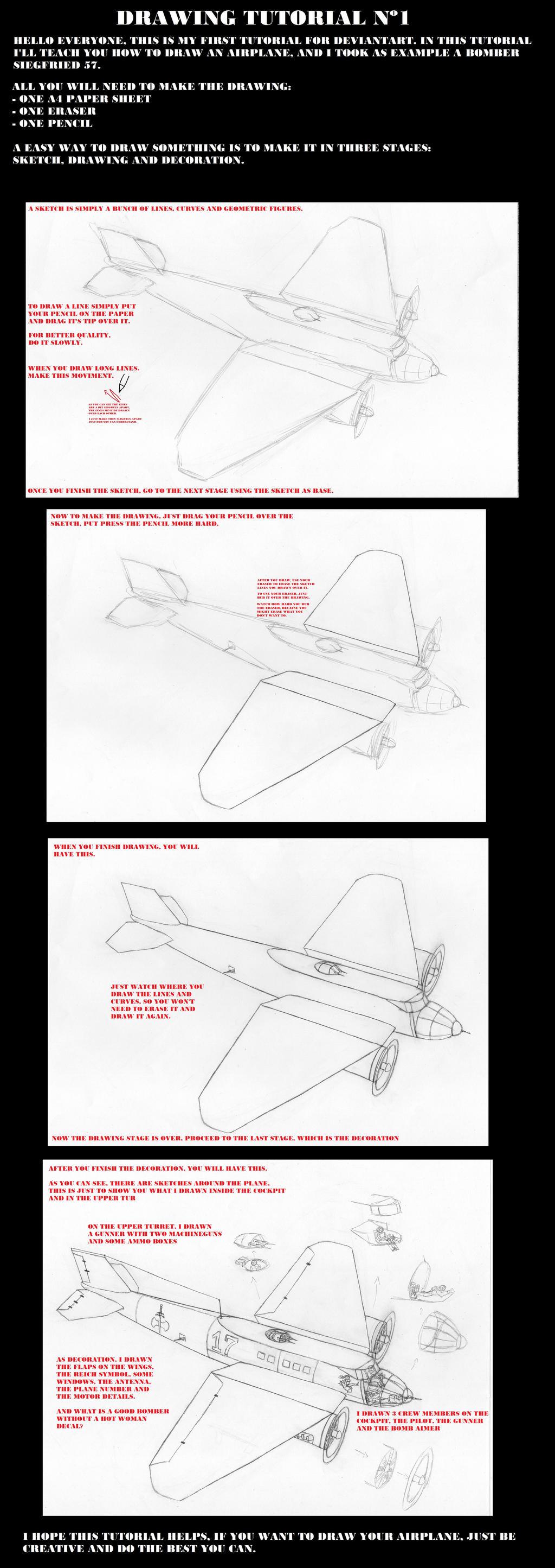 Drawings Tutorial N1 Airplane By Rjdetonador97 On Deviantart