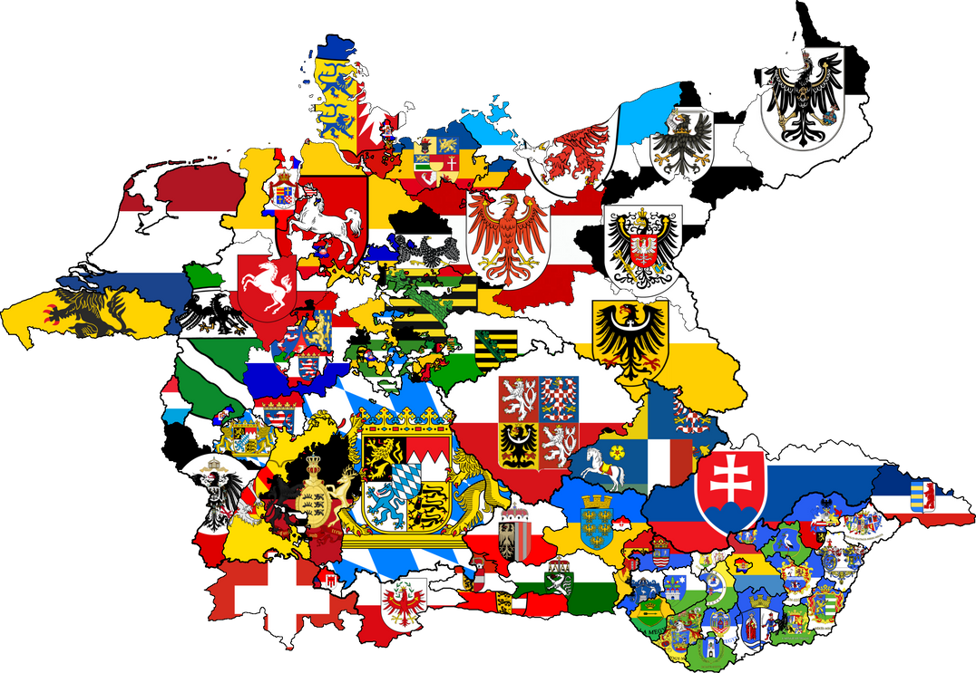 Map Of Germany With States.Germany States Flag Map Earth Empire By Rjdetonador97 On Deviantart