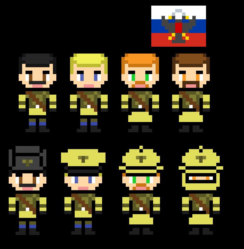 Pixel Art Russian Soldiers By Rjdetonador97 On Deviantart