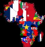 Africa 1914 Flagmap