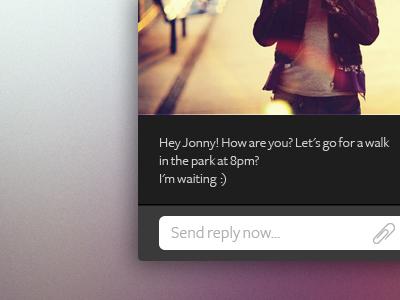 Personal Message App by KostyaKoz