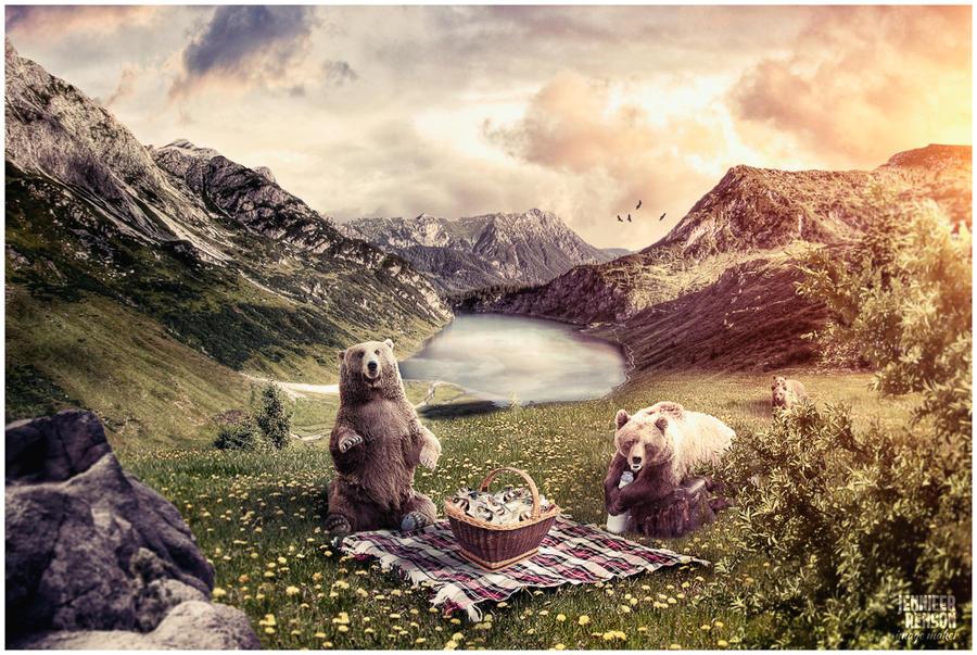 Bears in Picnic by JenniferRenson