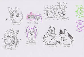 Doodles and fan art! by Echo-80