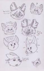 Aggretsuko Doodles