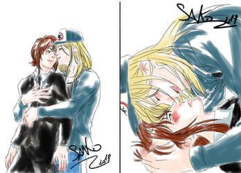 Sketch Comm: Bruno x Dereck by SaKo88
