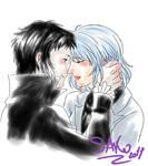 Sketch Comm: Akutagawa x Komachi by SaKo88