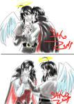 Sketch Comm: Vampire x Angel by SaKo88