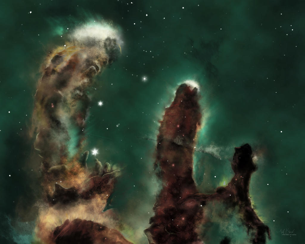 hubble backgrounds pillars of creation - photo #24