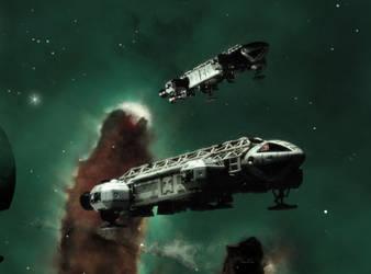 Eagles in the Eagle Nebula (version 2) by Topaz172