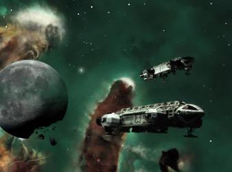 Eagles in the Eagle Nebula (version 3) by Topaz172