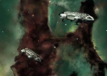 Eagles in the Eagle Nebula (version 4) by Topaz172