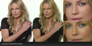 High-End Retouching: Charlize Theron Before After