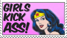 Girls Kick Ass stamp by Optimism-Is-Weakness