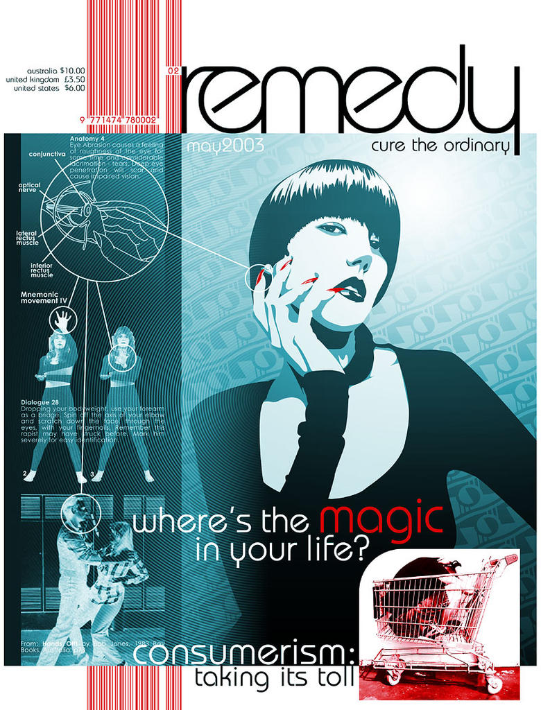 remedy - magazine cover by kayne
