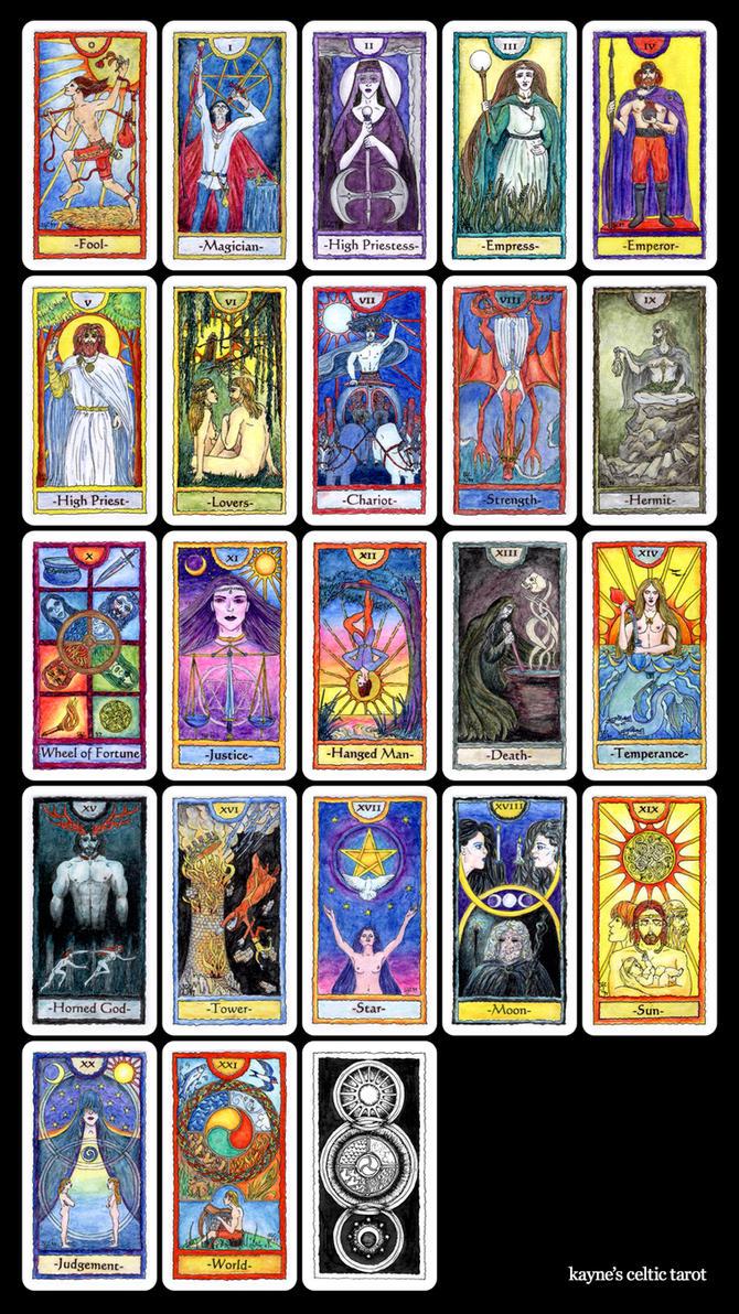 Major Arcana Tarot Card Meaning According To: Kayne's Celtic Tarot By Kayne On DeviantArt