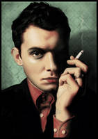 a portrait of jude law by kayne
