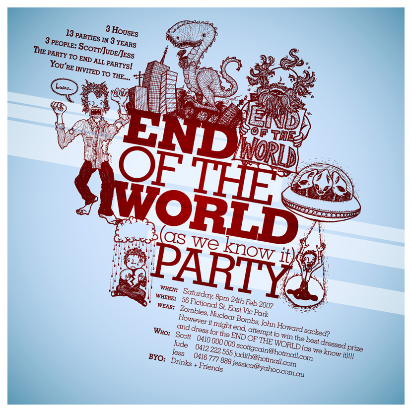 End of the World Party Invite by kayne on DeviantArt