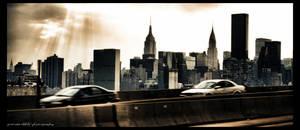Dusk in Manhattan