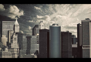 Blue Skies of New York by PortraitOfaLife