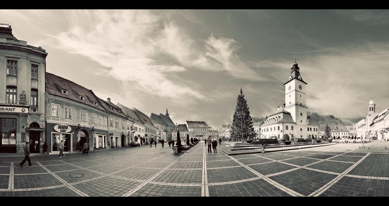 Old Brasov City Center by PortraitOfaLife