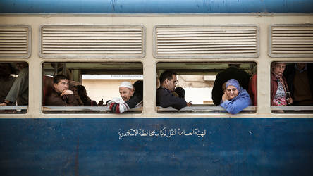 Alexandria Tram People by PortraitOfaLife