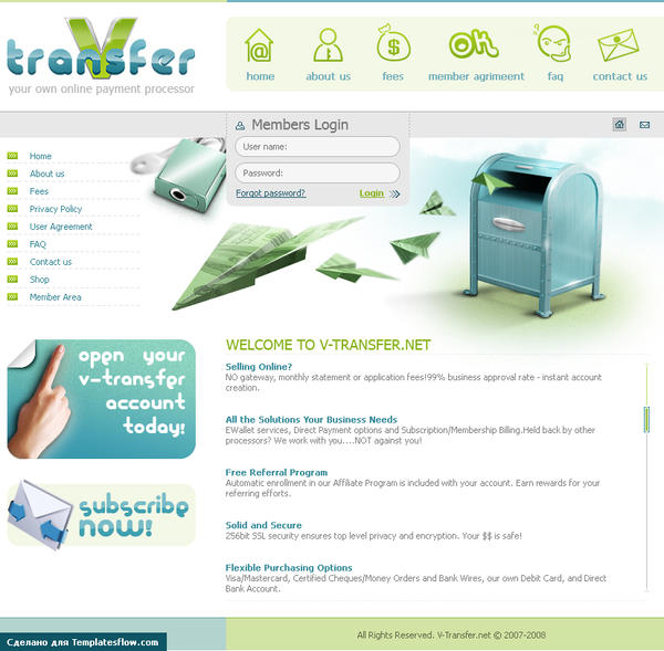 V-transfer website by BraveDesign