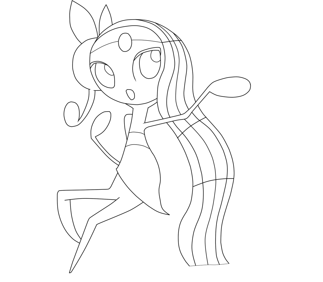 Meloetta Coloring Pages Coloring Pages
