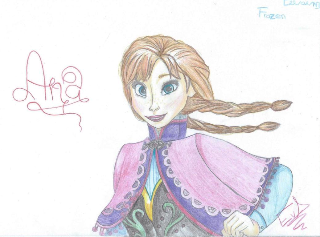 [Frozen] Anna by OtakuElxFanArt