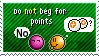 Stamp: Do not beg for points by Silver-MoonNight