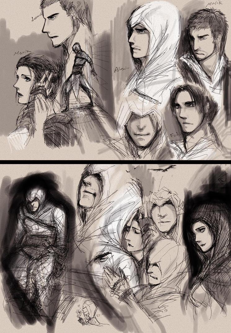 Assassin's Creed Sketch Dump by SchifferCake