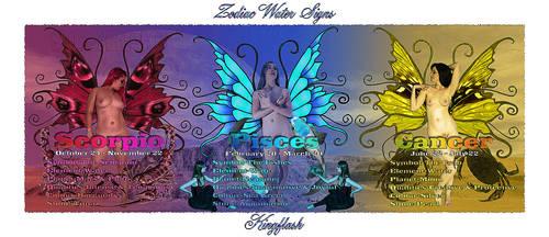 Zodiac Water Signs by kingflash