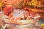 The auttum lake by alex-tuan