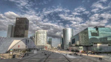 Les tours de la Defense Paris by djooleean